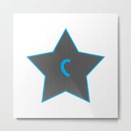 Initials | Star | C Metal Print