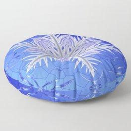 Snowflake Pattern - Bladed Sky Floor Pillow