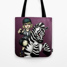Roller Derby Referee Zebra Tote Bag