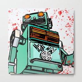 Retro killer robot Metal Print