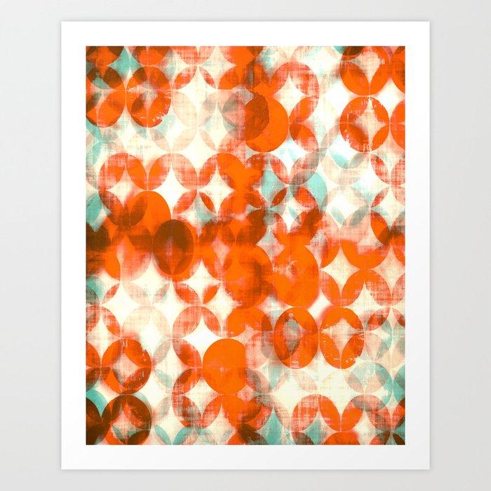 Circles Orange Art Geometric Print Modern Painting Mid Century Art Abstract Art Art Print By Amylighthall