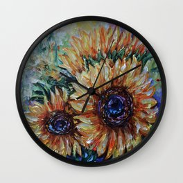 Sunflowers Wall Clock