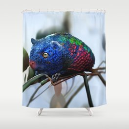Fantastic creatures: colorful rodent Shower Curtain