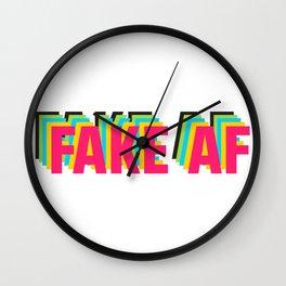 FAKE AF Wall Clock