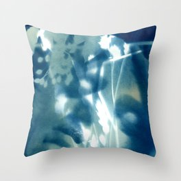 Fragments of the Past (13), art print, collage, blue print, wall art, wall decor, home decor Throw Pillow