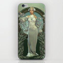 Art Nouveau White Lady iPhone Skin
