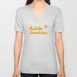 Hello Sunshine | Orange Unisex V-Neck