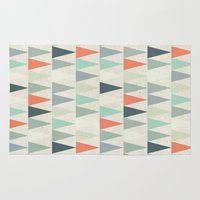 triangles Area & Throw Rugs featuring Triangles by Dizzy Moments