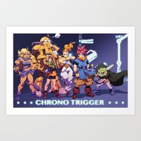 chrono trigger Art Prints featuring Chrono Trigger by Robaato