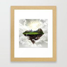 The island of silence Framed Art Print