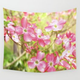 Pink Dogwood Flowering Tree In Spring Time Wall Tapestry