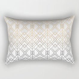 Gold And Grey Geo Rectangular Pillow