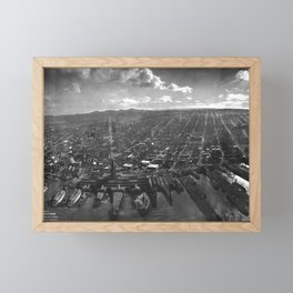 1906 San Francisco in Ruins the Day After the Great Earthquake and Fire black and white photography - photographs Framed Mini Art Print