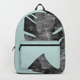 Composition tropical leaves XII Backpack