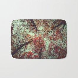 scarlet tree tops Bath Mat