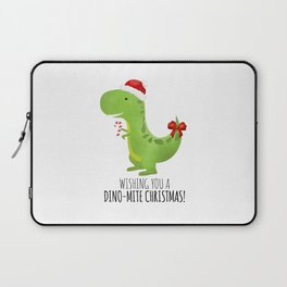 Wishing You A Dino-Mite Christmas Laptop Sleeve