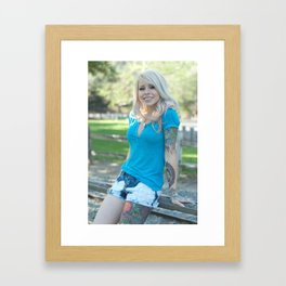 Girl Next Door Framed Art Print