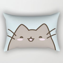 Kawaii cat says 'show me your kitties' Rectangular Pillow