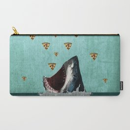 Pizza Shark Print Carry-All Pouch