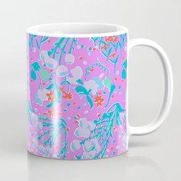Midcentury Meadow in Magenta Coffee Mug