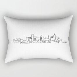 Denver Skyline Drawing Rectangular Pillow