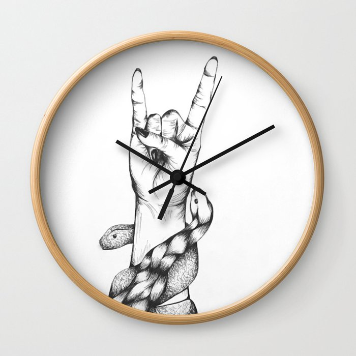 Punk Rock Goes Reptilian Wall Clock