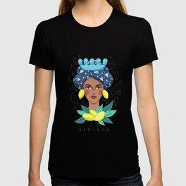 Sicilian Woman - Testa Di Moro Lemon T-shirt