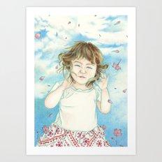 Spring Gust Art Print