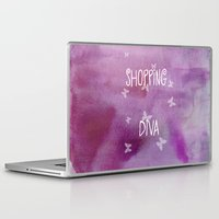 shopping Laptop & iPad Skins featuring Shopping Diva by Judith Lee Folde Photography & Art