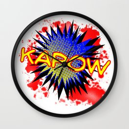 Kapow Comic Exclamation Wall Clock
