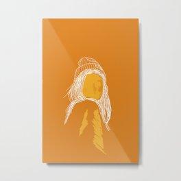Orange girl Metal Print
