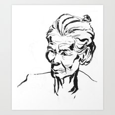 Old women Art Print