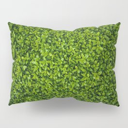 Green Leaves Pattern Pillow Sham