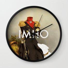 IMHO (MetaPhone) Wall Clock