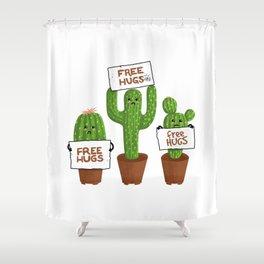 Free Hugs Cactus Shower Curtain