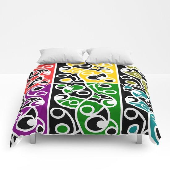 Maori Kowhaiwhai Pattern Comforters