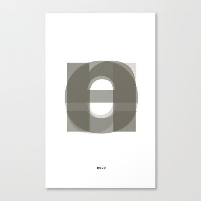 Die Neue Haas Grotesk (A-01) Canvas Print