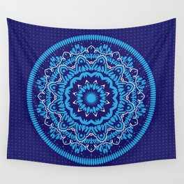Mandala 010 Blue Mix Wall Tapestry