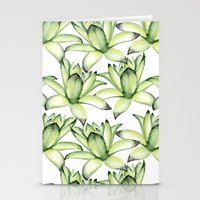 succulents Stationery Cards featuring Succulents by Julia Badeeva