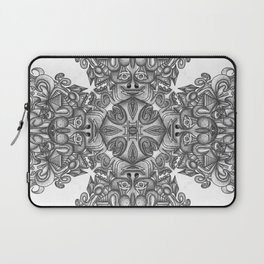 black, white and gray  Laptop Sleeve