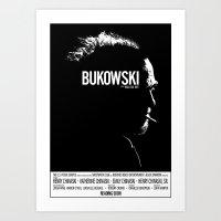 bukowski Art Prints featuring Bukowski by ikado