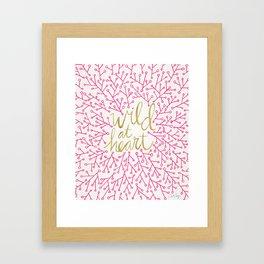 Wild at Heart – Pink & Gold Framed Art Print