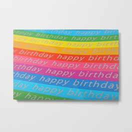 Rainbow Birthday Metal Print