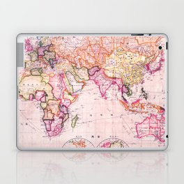 Vintage Map Pattern Laptop & iPad Skin