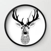 deer Wall Clocks featuring Deer by Art & Be