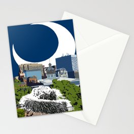 ColumbYEAH SC - Pixel City - SC Flag Moon Stationery Cards