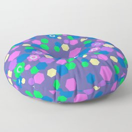 Candy Flowers 7 Floor Pillow