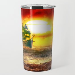Black Pearl Pirate Ship Travel Mug