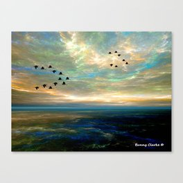 Sunset in the Refuge Canvas Print