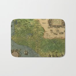 Map Of Mexico 1595 Bath Mat